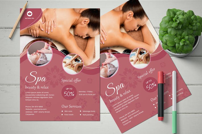 Thumbnail for Beauty Spa Flyer Template
