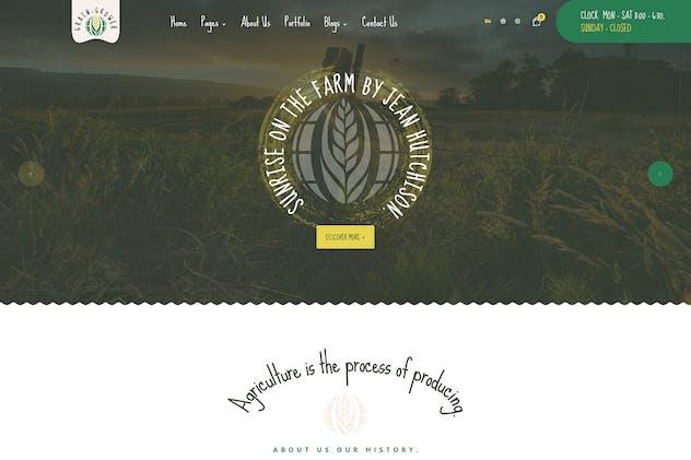 Grain Grower - Agriculture Farm & Farmers PSD Temp