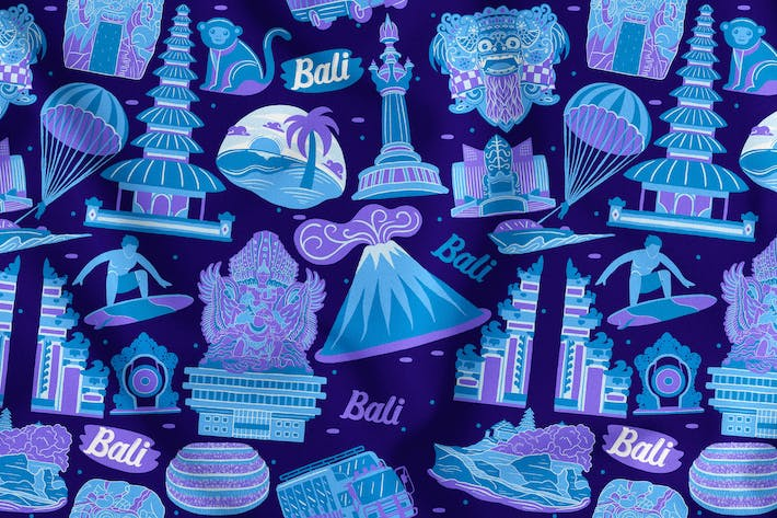 Thumbnail for Bali Seamless Pattern