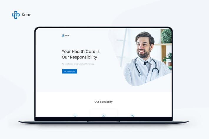Thumbnail for Kear - Medical & Healthcare Landing Page Template