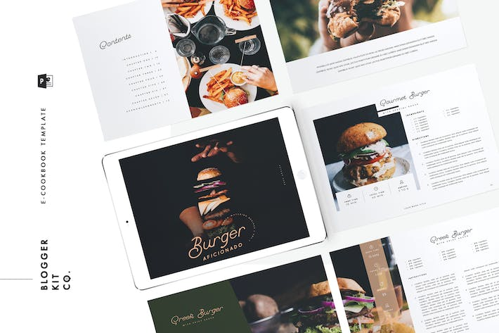 Ebook Template Cookbook 16 Pages Powerpoint By Cokocreates On