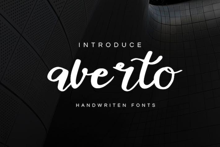 Thumbnail for Averto - Handwritten Script Font