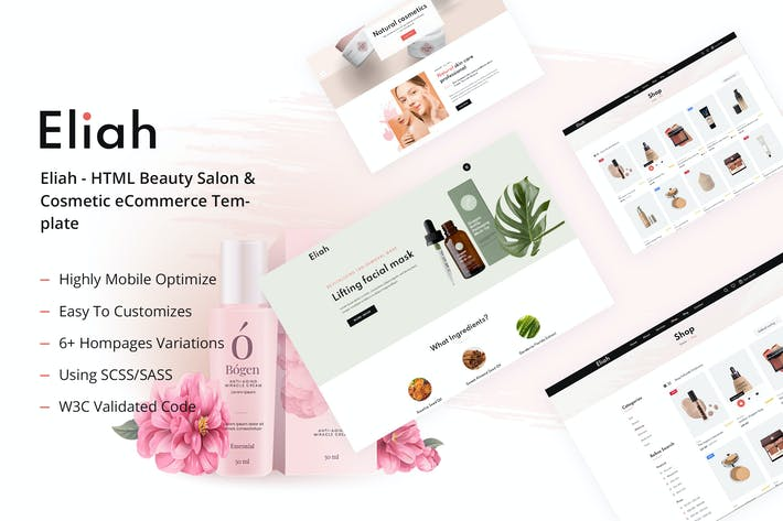 Eliah - HTML Beauty Salon & Cosmetic eCommerce