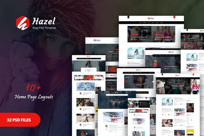 Thumbnail for Hazel - Personal Blog PSD Template