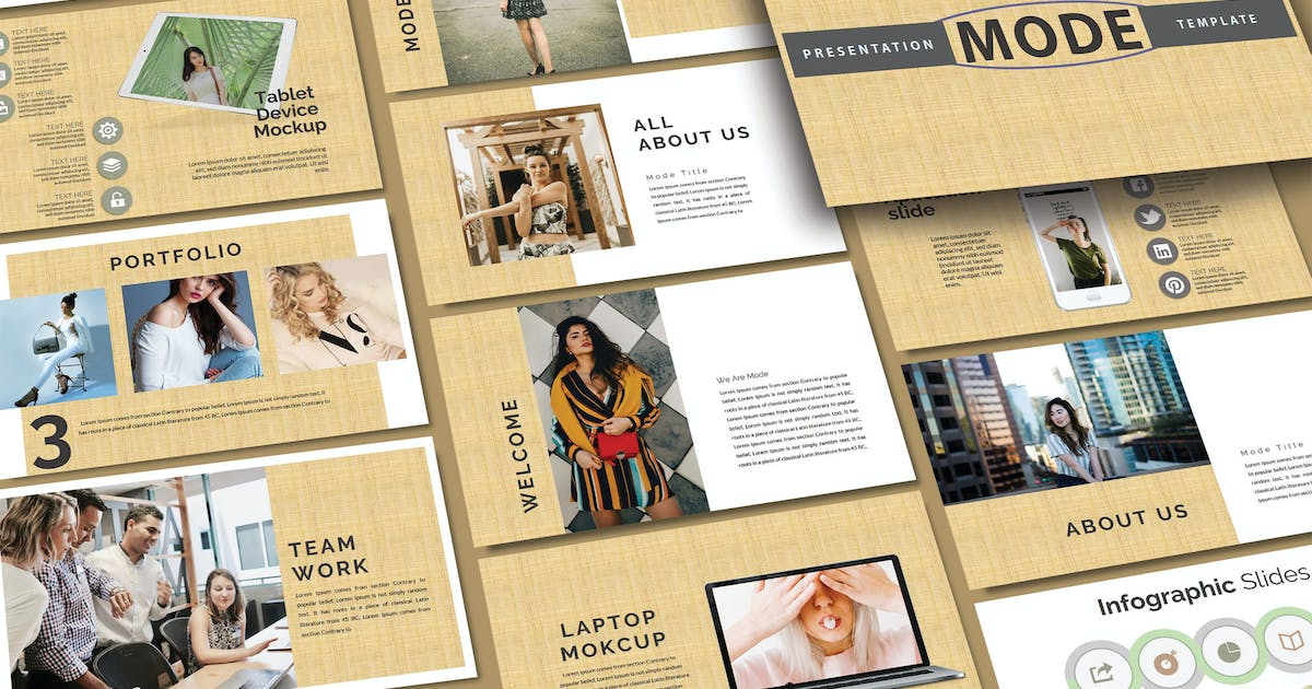 Download MODE FASHION - Powerpoint Template by joelmaker