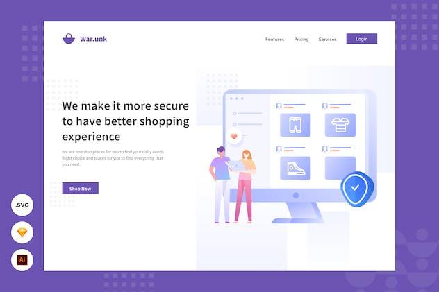 Privacy Security - Website Header - Illustration