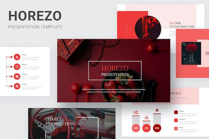 Thumbnail for Horezo - Red Color Tone Pitch Deck Google Slides