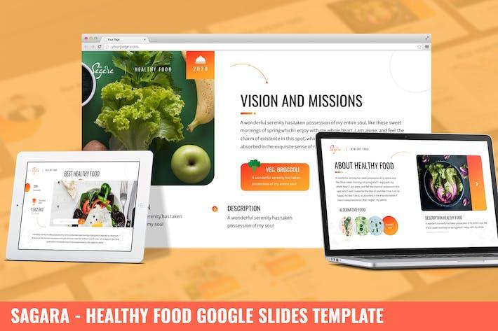Сагара - Здоровое питание Google Слайды Шаблон