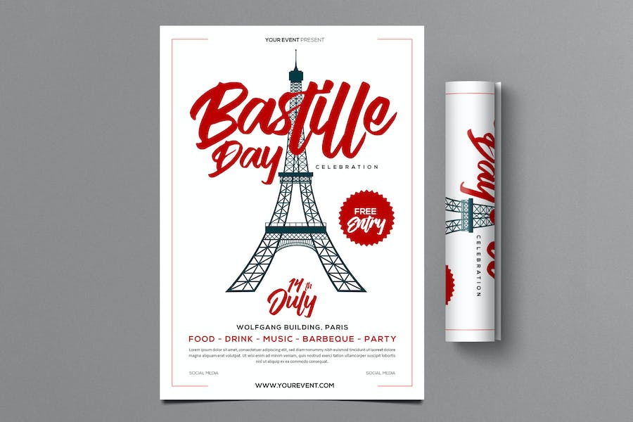 Bastille Day Flyer - product preview 0