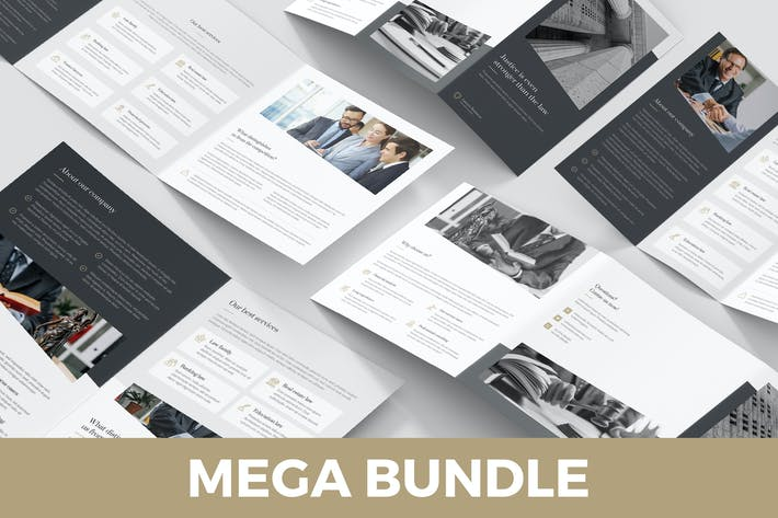 Thumbnail for Lawyer – Brochures Bundle Print Templates 5 in 1