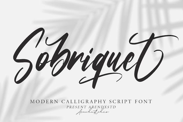 Sobriquet - Modern Calligraphy Font