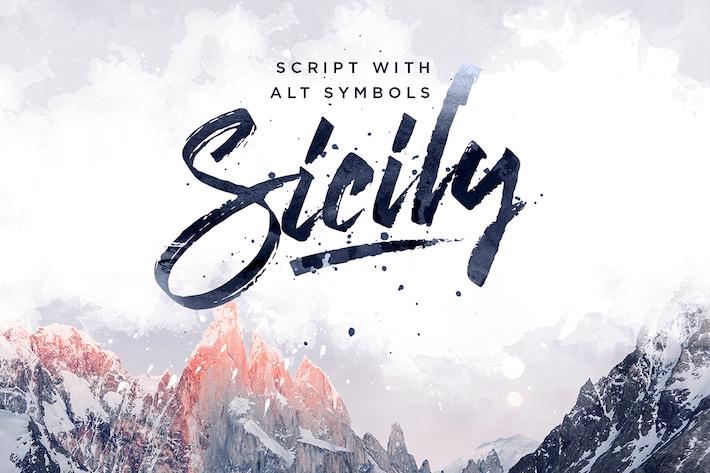 Thumbnail for Sicily Script Font