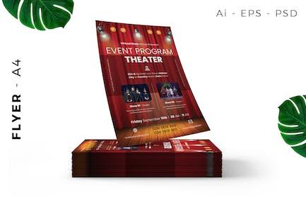 Theatre Act Flyer Design