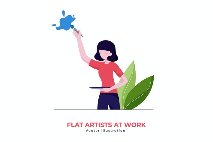 Thumbnail for Flat artist vector illustration