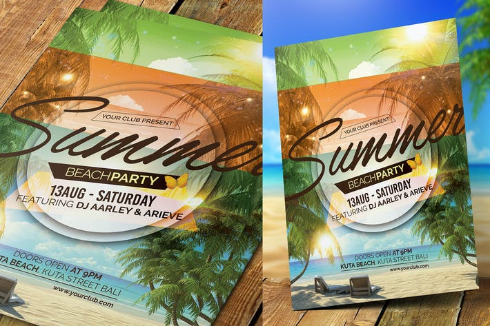 summer event flyer invitation by aarleykaiven on envato elements