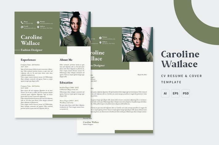 Thumbnail for Caroline  - CV & Resume Templates