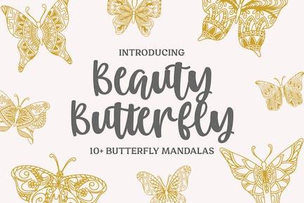 13 Красота Бабочка Мандалы