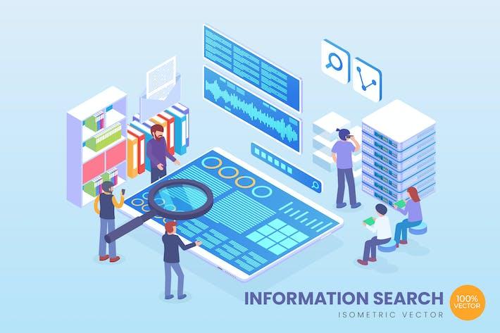 Thumbnail for Isometrische Informationssuche Vektor konzept