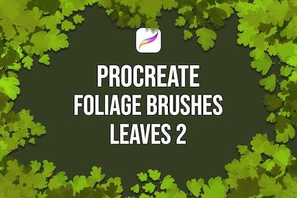 Procreate Foliage Brushes - Leaves 2