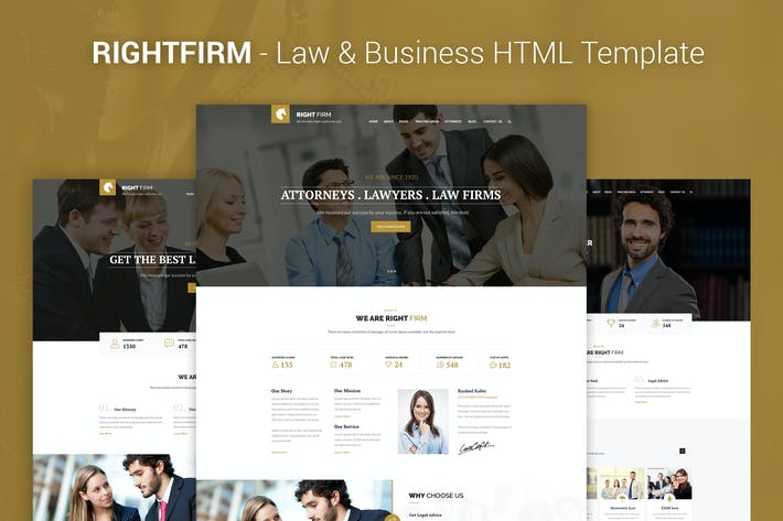 Thumbnail for RIGHTFIRM - Law & Business HTML Template