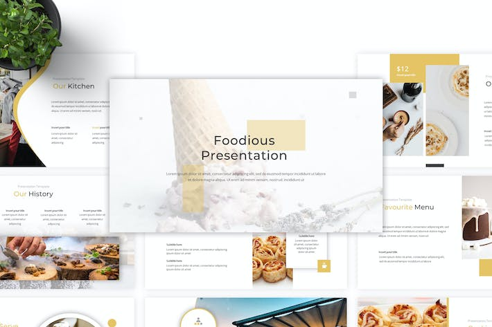 Thumbnail for Foodious - Keynote Template