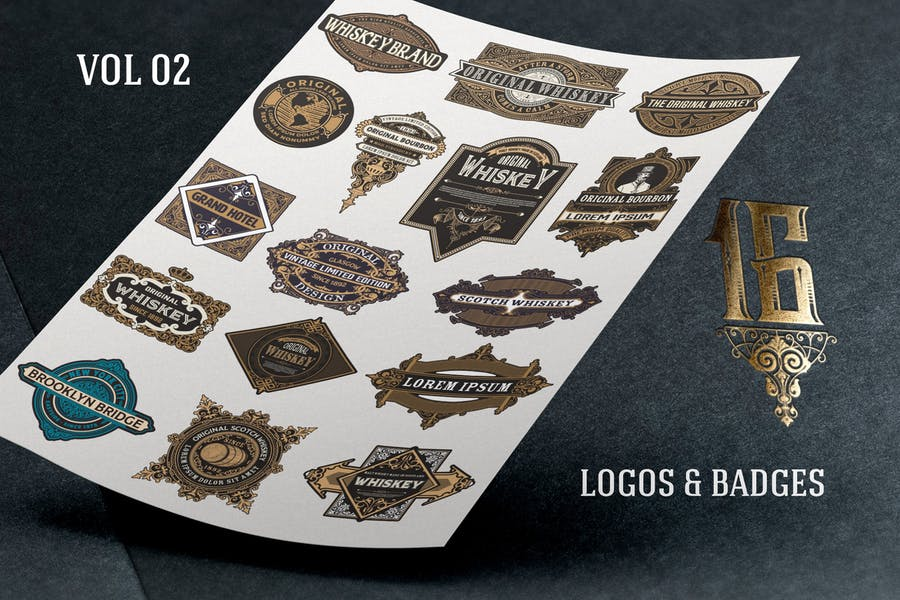 Pack of logos and badges