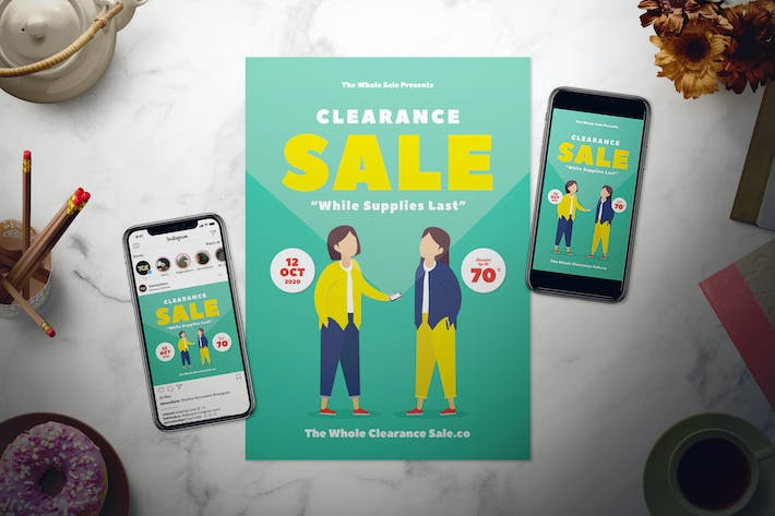 Thumbnail for Clearance Sale Flyer Set