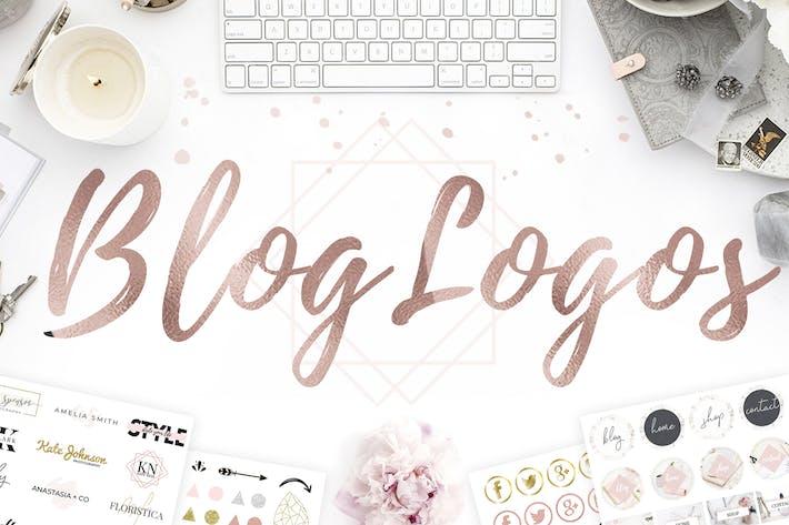 Thumbnail for 9 Blog Logos. Logo Templates