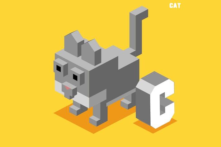 Thumbnail for c für Katze, Tier Alphabet
