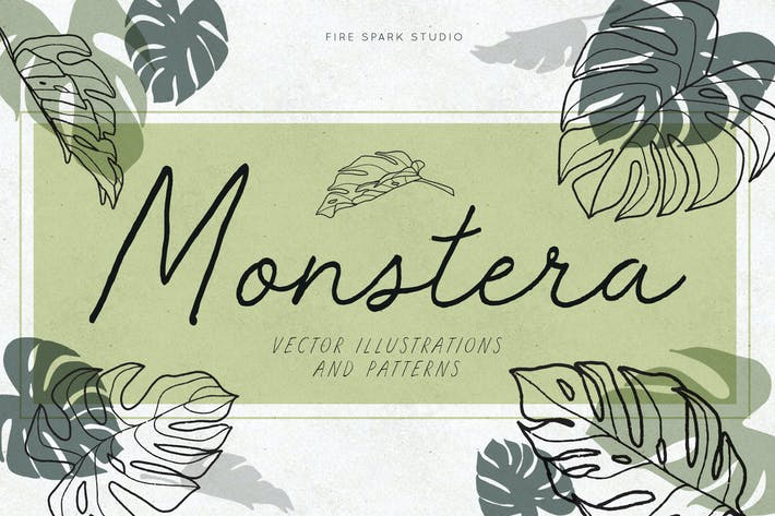 Thumbnail for Monstera Leaf Vector Illustrations