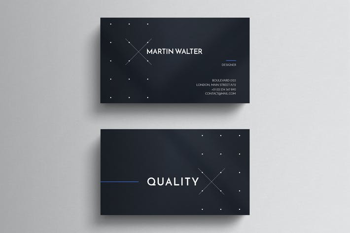 Dark minimal business card tempalte