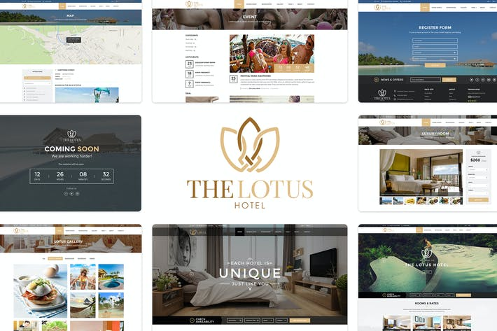 Thumbnail for Lotus | Hotel Booking PSD Template