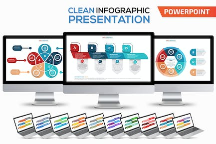 Clean Infographics Powerpoint Template