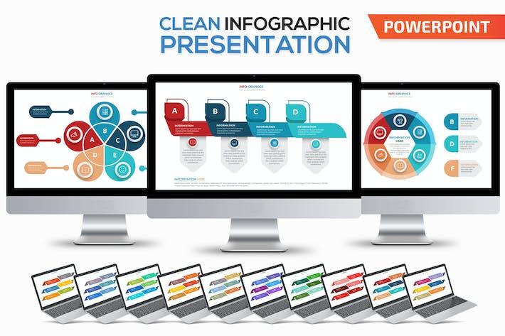 Очистить шаблон Powerpoint Инфографика