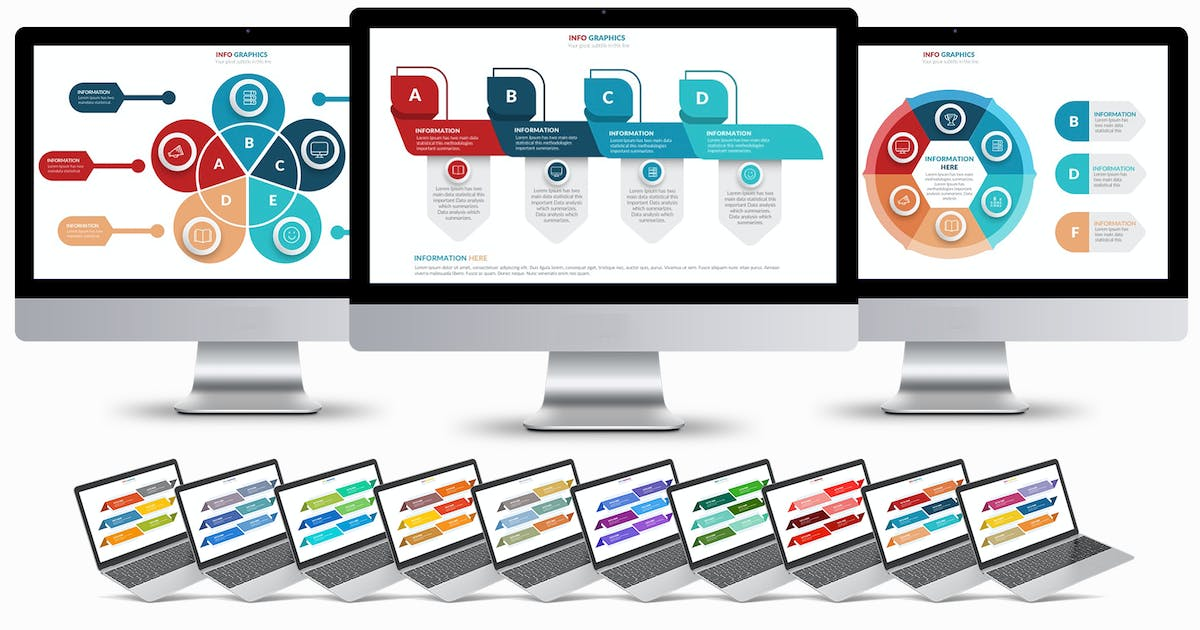 Download Clean Infographics Powerpoint Template by mamanamsai
