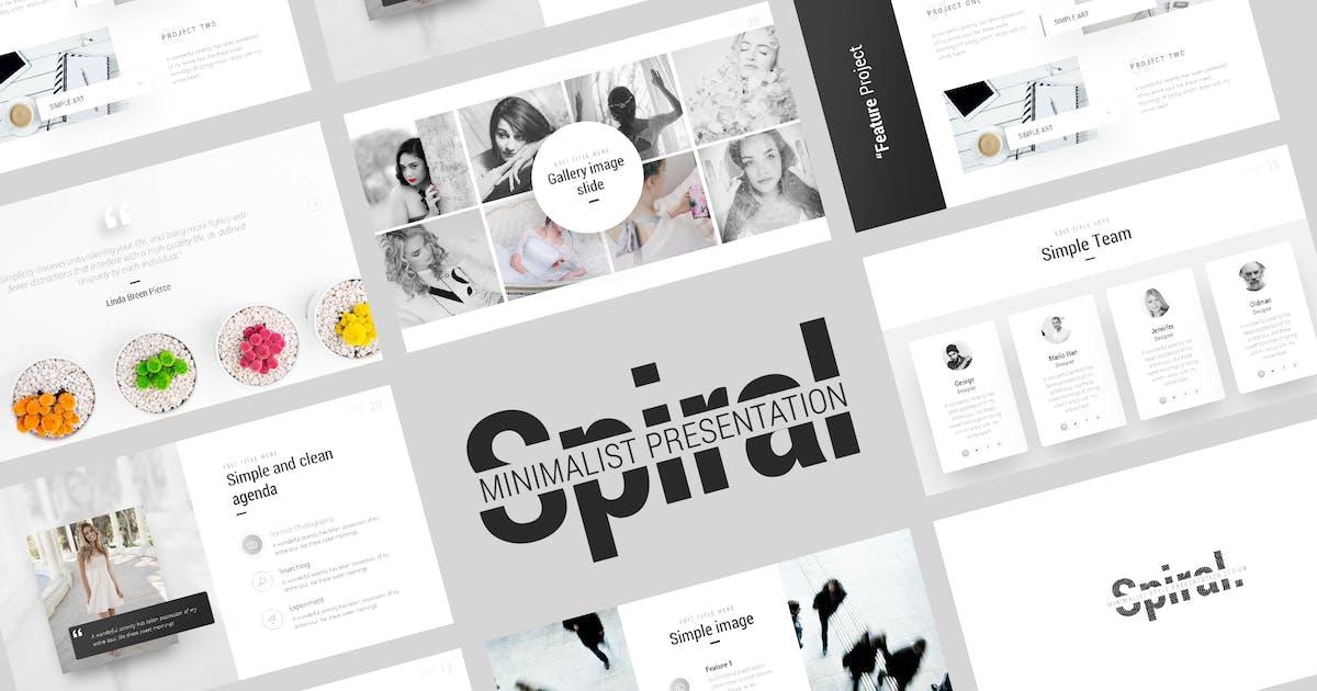 Download Spiral Minimalist Presentation Template by BrandEarth