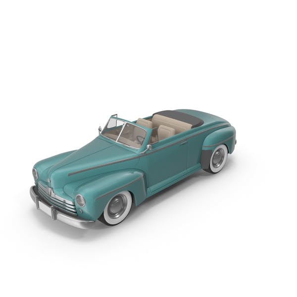 Vintage Convertible Car Turquoise