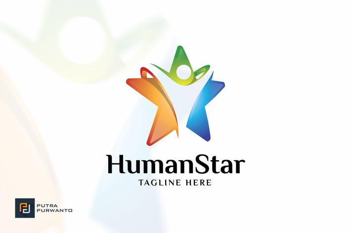 Thumbnail for Human Star - Logo Template