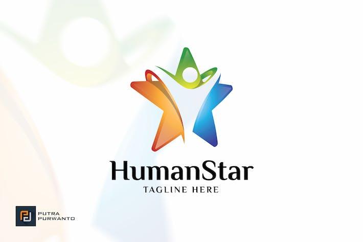Human Star - Logo Template
