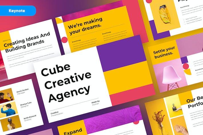 CUBE - Creative Geometric Keynote Template