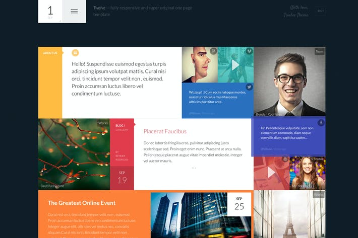 Cover Image For Twelve — Original & Creative Responsive Template