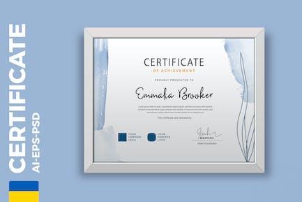 Watercolor Certificate / Diploma Template