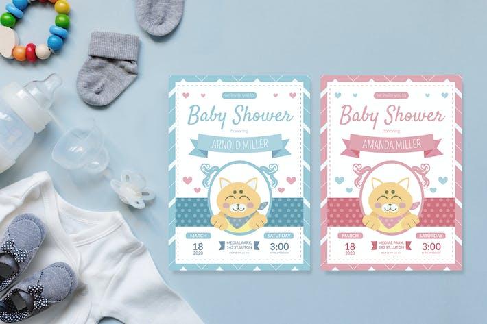 Thumbnail for Little Chiba - Baby Shower Invitation