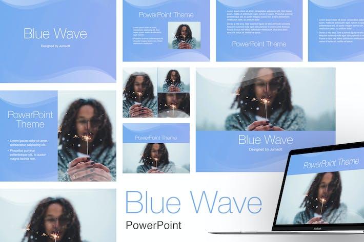 Thumbnail for Шаблон PowerPoint синей волны