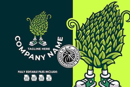 Hops Brew Mascot Logo Template