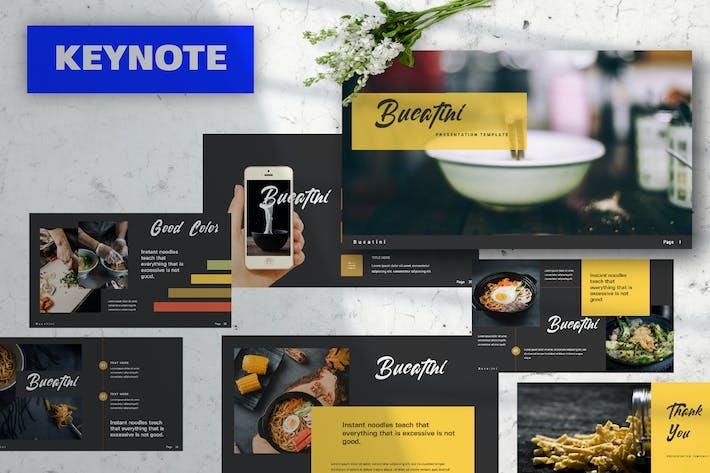Thumbnail for Bucatini Food Keynote Presentation