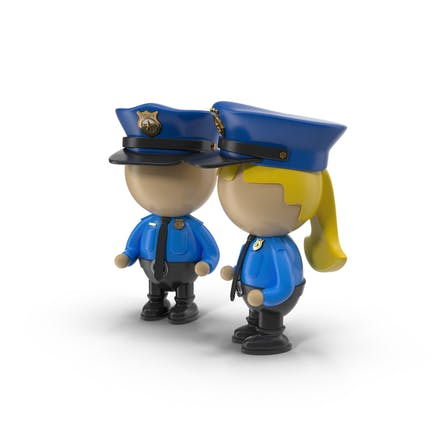 Cartoon Police Officer Characters