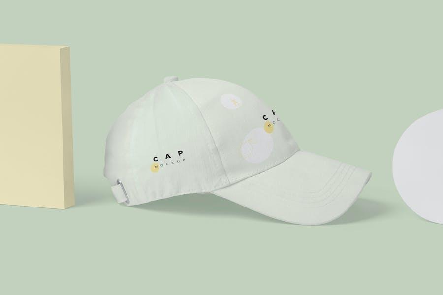 5 Baseball Cap Mockups - V2