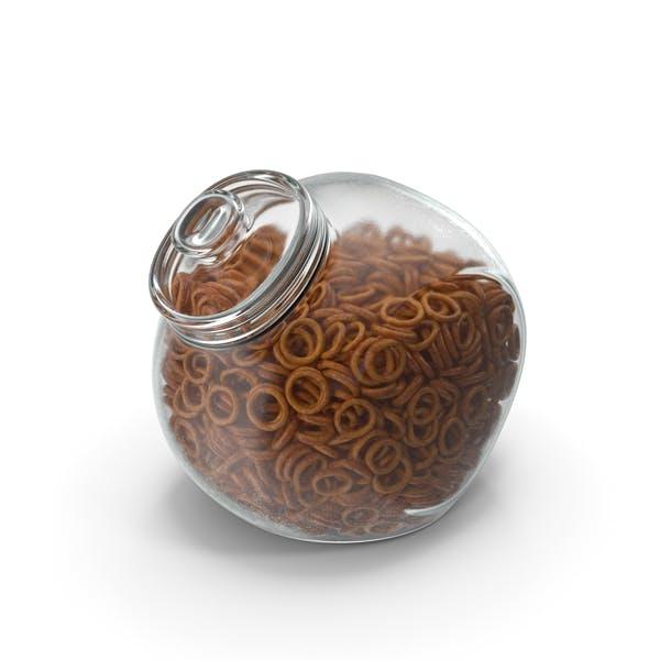 Spherical Jar with Pretzel Rings