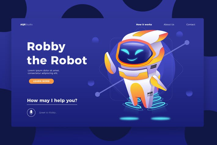 Thumbnail for Robot Manager - Banner & Landing Page